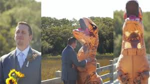 T Rex Costume Bride Stuns Groom With Hilarious T Rex Costume Reveal Wsmv News 4