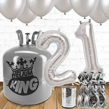silver balloons 21st birthday silver balloons helium package partyrama co uk