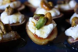 goats cheese canape recipes fresh fig bites