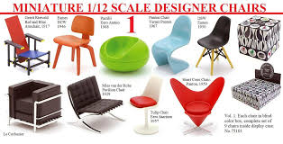 designer chairs mini design chairs 1 12 scale