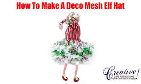 how to make a deco mesh christmas elf hat wreath youtube