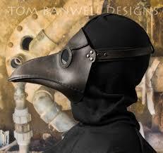 plague doctor masquerade mask masque du médecin de la peste en cuir noir classique par