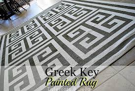 Painting An Outdoor Rug Ikea Hack Paint A Geometric Key Rug