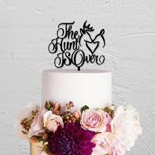 online shop the hunt is over wedding cake topper rustic wedding