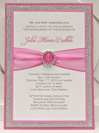 Example Of Baptismal Invitation Card Sweet 15 Invitations Cards Festival Tech Com