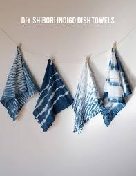 Kitchen Towel Craft Ideas Diy Indigo Dye Series U2013 Shibori Dish Towels Indigo Dye Towels
