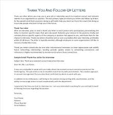 awesome collection of sample follow up thank you letter for job