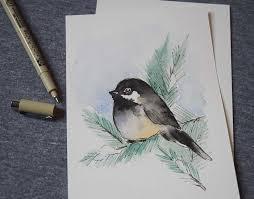 watercolor tutorial chickadee shayda cbell watercolor winter birds tutorial