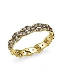 eternity wedding ring yellow gold chagne infinity eternity wedding ring by