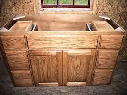 SOLID WOOD AMISH MADE BATHROOM VANITY  OAK CUSTOM NEW EBay - Bathroom wood vanities solid wood