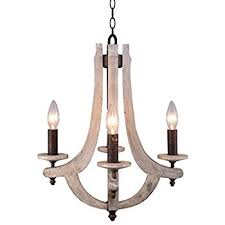 Wood Chandelier Docheer Retro Iron Wooden Chandelier 4 Candle Holder Lights