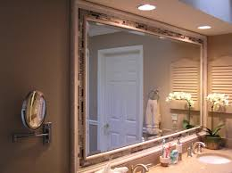 Wood Frames For Bathroom Mirrors Bathroom Cabinets Two White Wood Framed Bathroom Mirror With