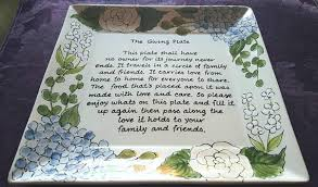 the giving plate gift to mom and dad hostess gift holiday