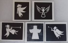 10 100 x angel stencils for etching mixed on glass craft hobby