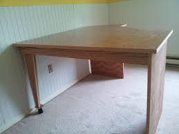 hand made oak corner desk by windy woods custom design