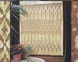 Cafe Curtain Pattern Macrame Curtain Etsy