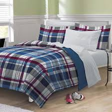 Plaid Bed Set My Room Varsity Plaid Ultra Soft Microfiber Comforter