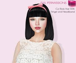 hair with headband second marketplace meli imako perm rigged mesh cut bob