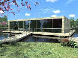 house modern lake plans with view and large glass windows as well