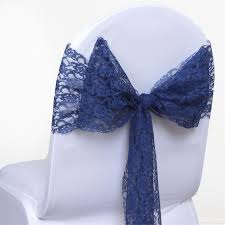navy blue chair sashes 5 pcs navy blue lace chair sashes tie bows catering wedding party