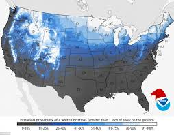 map shows which us states are likely to see snow on day