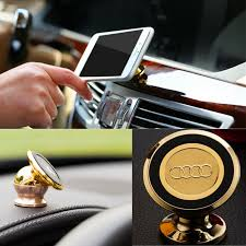 premium magnetic cell phone holder full rotation compact