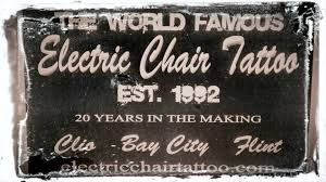electric chair tattoo clio mi