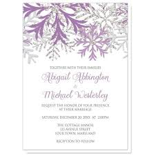 silver wedding invitations snowflake purple silver wedding invitations at artistically invited