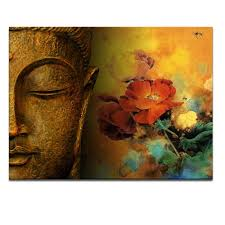 decor painting decor tips modern buddha canvas painting for natural interior