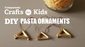 diy pasta ornaments pbs parents crafts for kids youtube