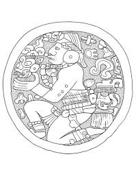 maya mayans u0026 incas coloring pages for adults justcolor