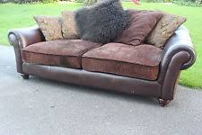 fabric and leather sofa leather barker and stonehouse sofas ebay
