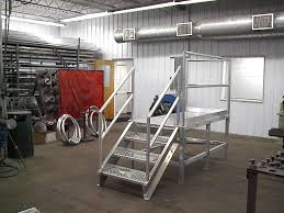 steel metal stair railing ladder and platform fabrication