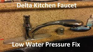 kitchen faucet low water pressure tutorial delta kitchen faucet low water pressure fix