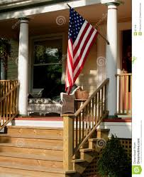 Porch Flag American Flag On Porch Stock Photo Image Of July Blue 877646