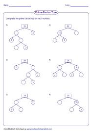 factor tree worksheets mediafoxstudio com