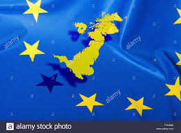 European Union Map Brexit Map Of Great Britain Over The Flag Of European Union