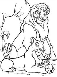 coloring beautiful picture baby simba