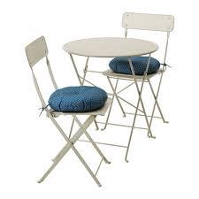 saltholmen table and 2 folding chairs outdoor saltholmen beige