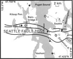 Seattle Earthquake Map by Serpent Spirit Power Stories Along The Seattle Fault