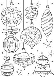 free christmas ornaments coloring pages printables resume