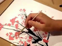 painting cherry blossom tree youtube