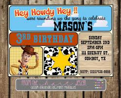 disney sheriff woody birthday party invitation toy story