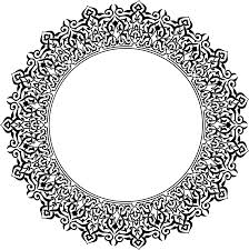 ornamented circle by gdj typography flourishes scrolls