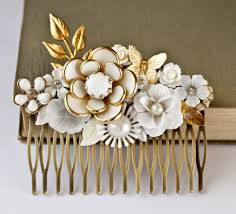 vintage hair combs bridal hair comb vintage bridal hair accessories by lonkoosh