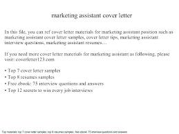marketing cover letter resume for marketing exle cover letter for resume marketing