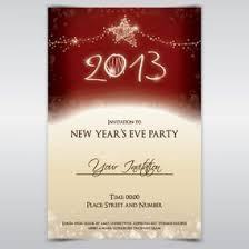 Happy New Year Invitation New Years Eve Invitation Vector Chatterzoom