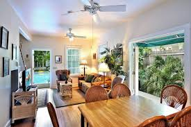 key west living room with blended furnishings key west a tropical tradition gallup arms 3 bedroom nightly vacation rental
