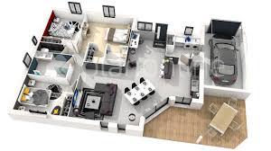 plan de maison 100m2 3 chambres plan maison plain pied 3 chambres 100m2 ideo energie
