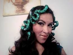 medusa hair costume beautiful medusa hair snake and makeup tutorial youtube